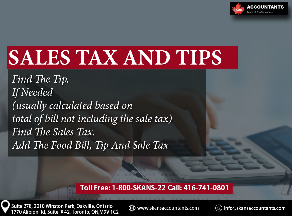 Sales Amp Tax Tip Of The Day By Skans Accountants For More