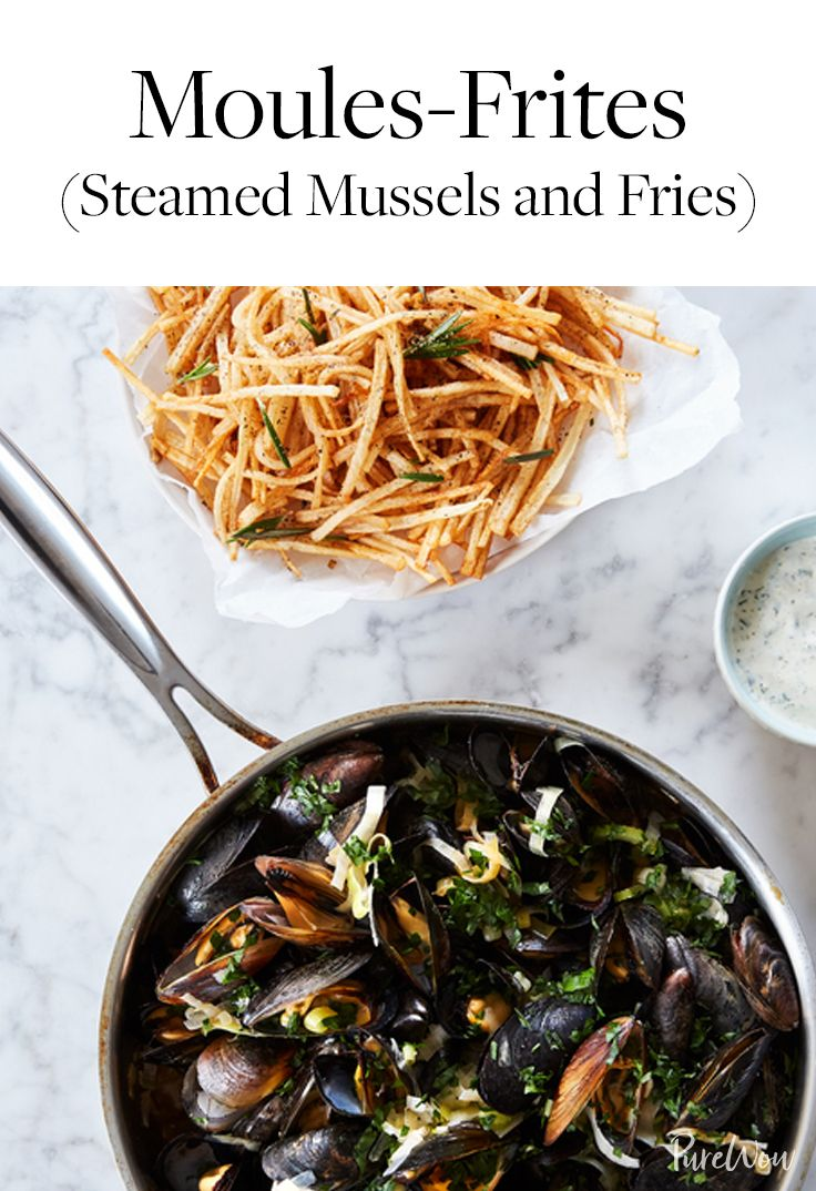 Moules-Frites (Steamed Mussels and Fries) #summerdinnerseasy