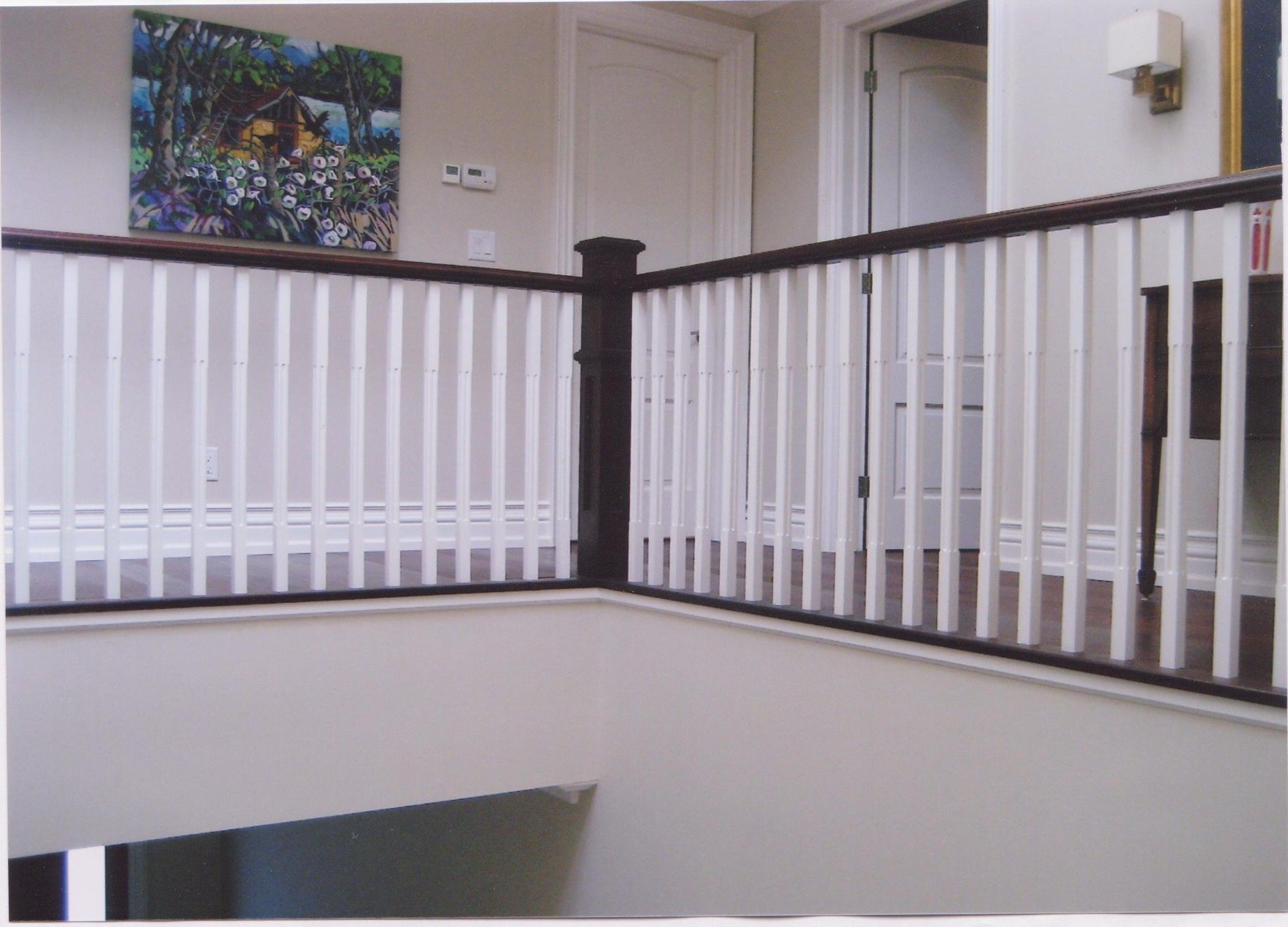 Best Painted Oak Pickets With Dark Stain Handrail Oak Stairs New Homes Home And Garden 400 x 300