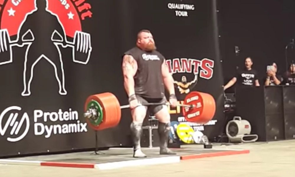 Weightlifter Eddie Hall Shatters World Record With 1102 Pound