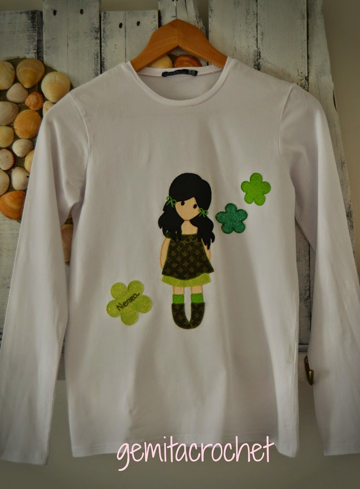 GEMITA CROCHET : Camiseta personalizada estilo Gorjuss | T\'shirts ...