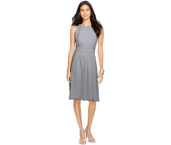 19887cc565c44 Lauren Ralph Lauren Ruched Sleeveless Dress - Bridesmaids - Women - Macy s