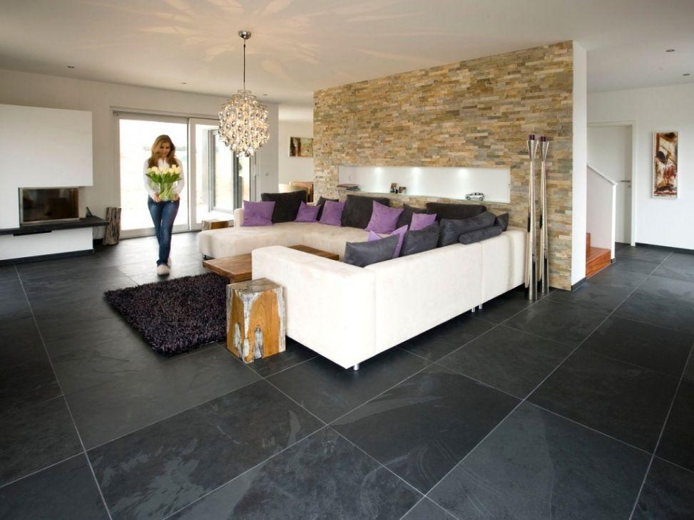 Stilvoll Wohnzimmer Fliesen Modern