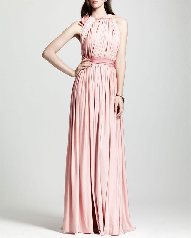 Grecian Style Wedding Gown: 11 Blush Pink Wedding Dresses. Grecian Style Wedding Gown