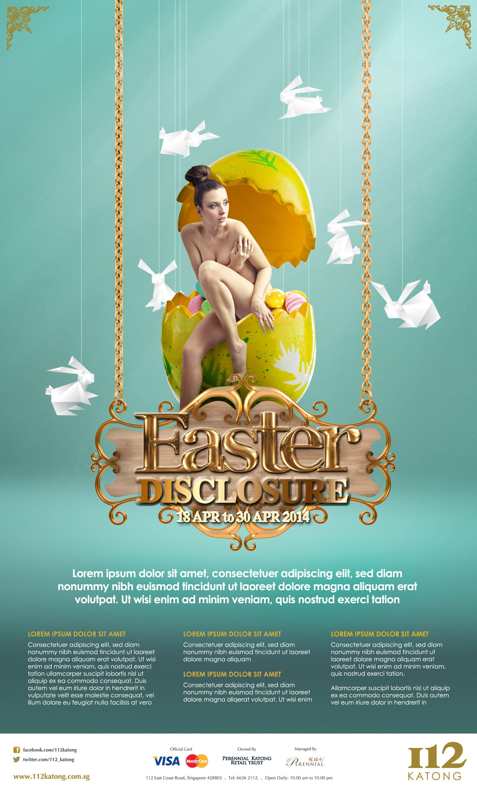 Katong Shopping Mall Easter Campaign Pitch Design Inspirations Ad