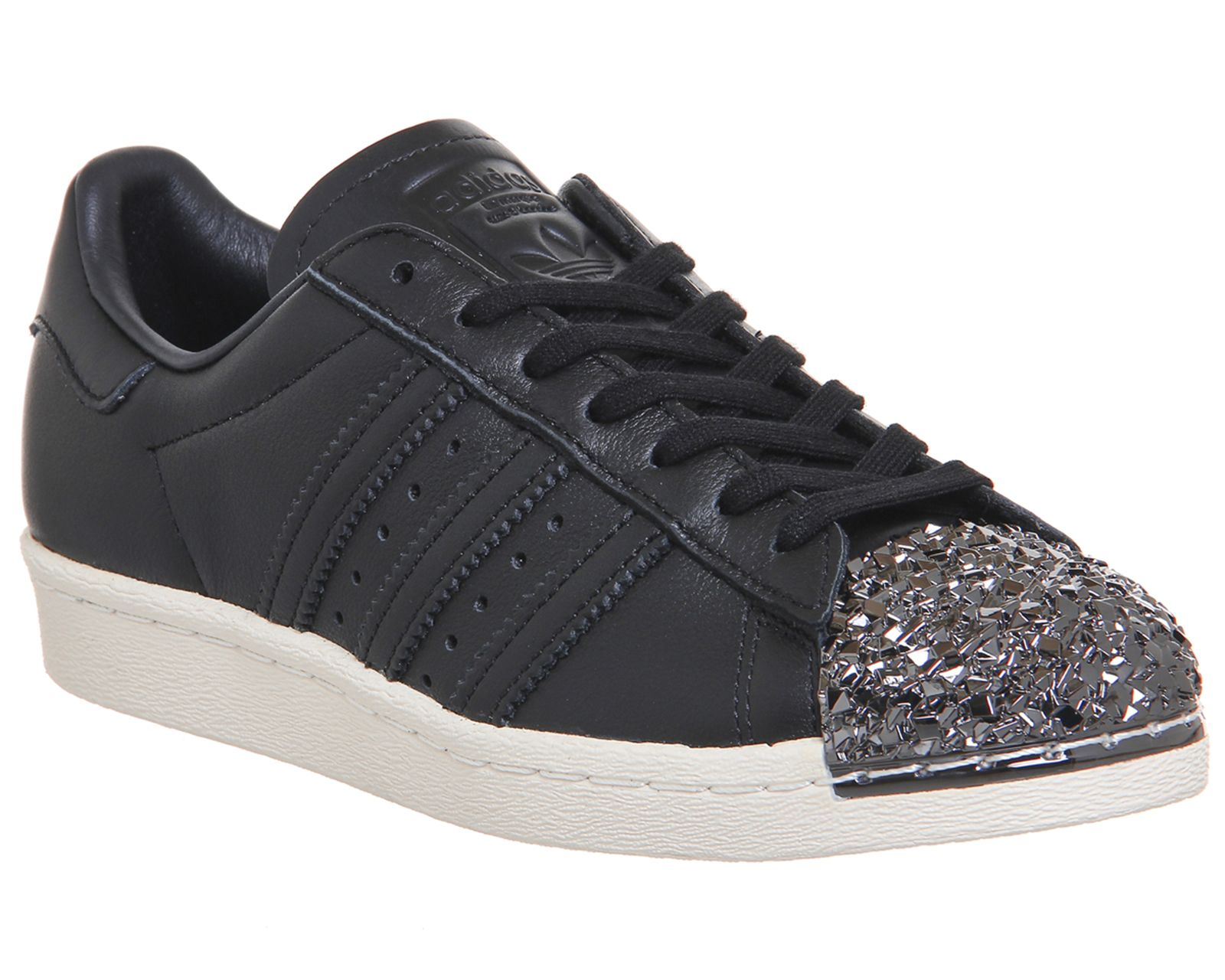 competitive price 2a6cc 6146c Adidas Superstar 80s Metal Toe Black Shattered Mirror 3d