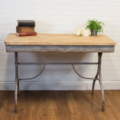American Mercantile Wood 4 Ft Console Table