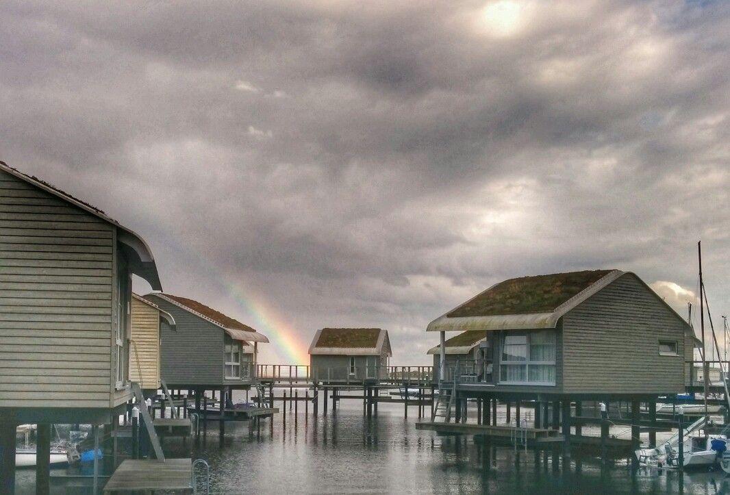 Pfahlhäuser in der Ostsee auf Rügen Ferien auf dem