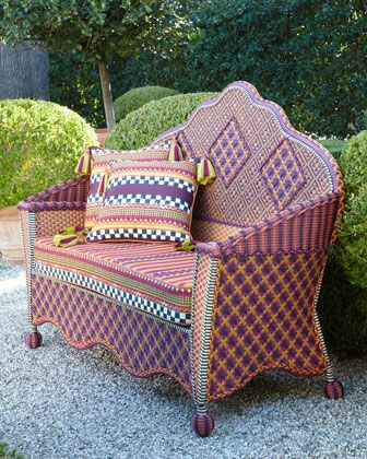 Sunset+Outdoor+Loveseat+by+MacKenzie-Childs+at+Horchow. | Sillas y ...