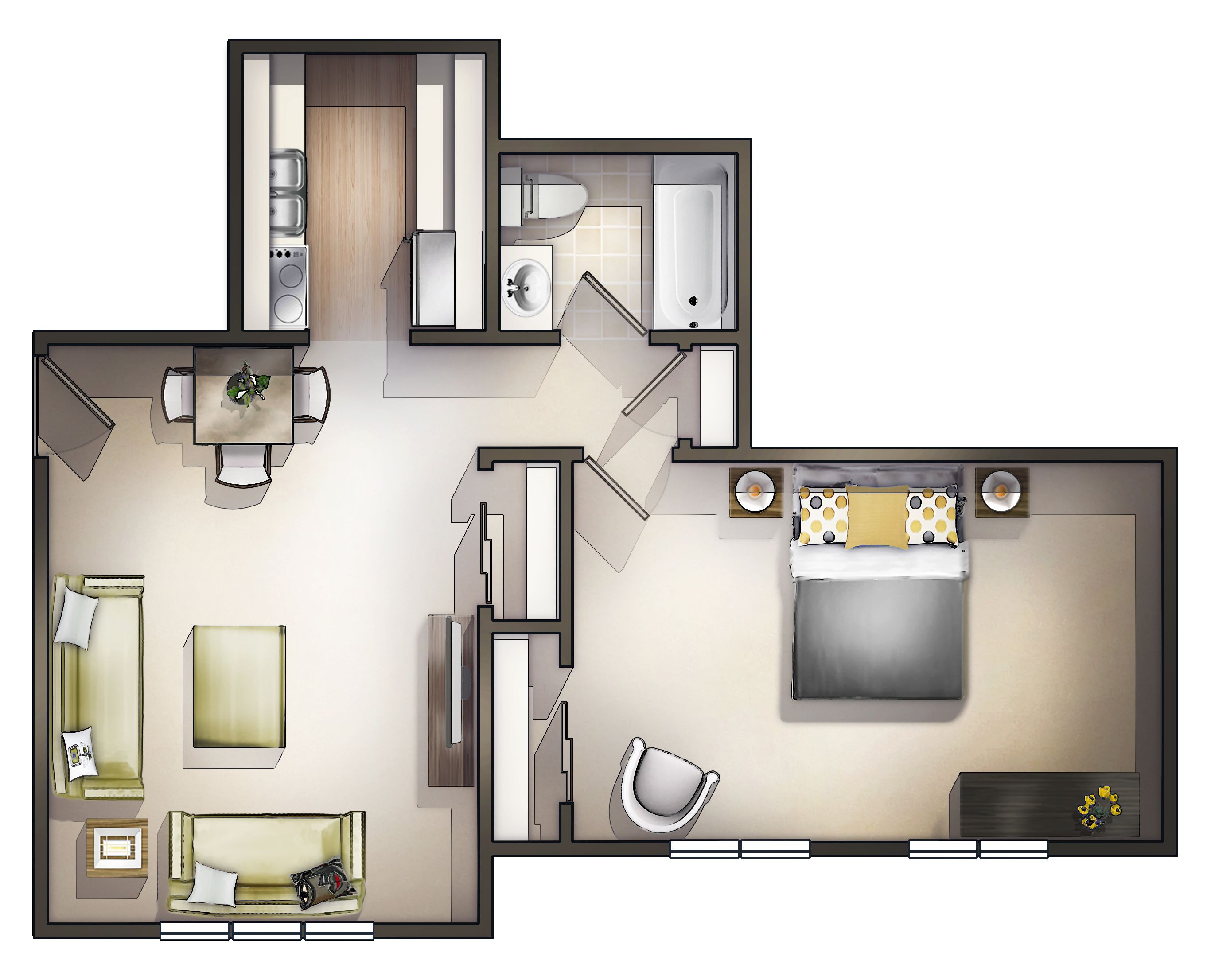 1 Bedroom Flat Interior Design Extraordinary Amazing 1 Bedroom Apartment In Portsmouth Nh At Winchester Place Review