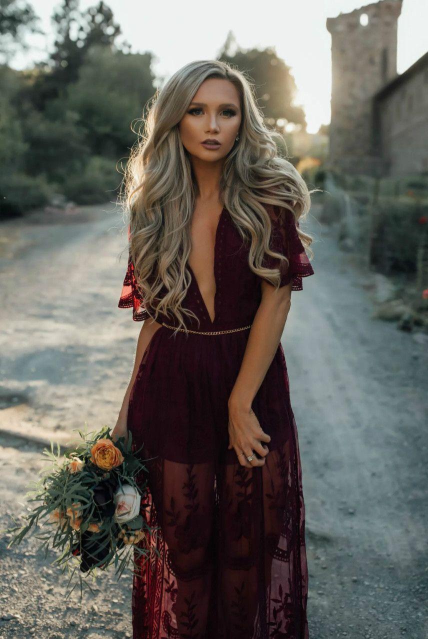 Deep v neck short sleeve high waist lace prom dress clothes pose