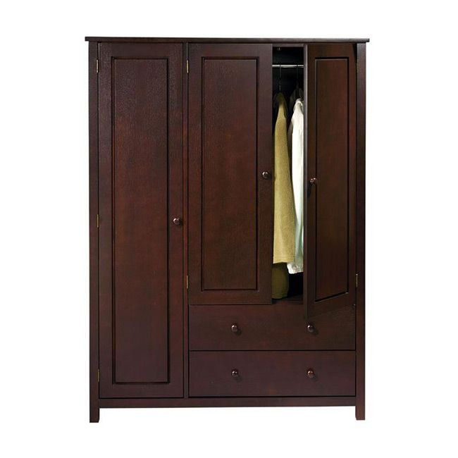 Attirant This Wenge Finish Wardrobe Features Multiple Compartments Including Two  Drawers And Two Hanging Rods To Address