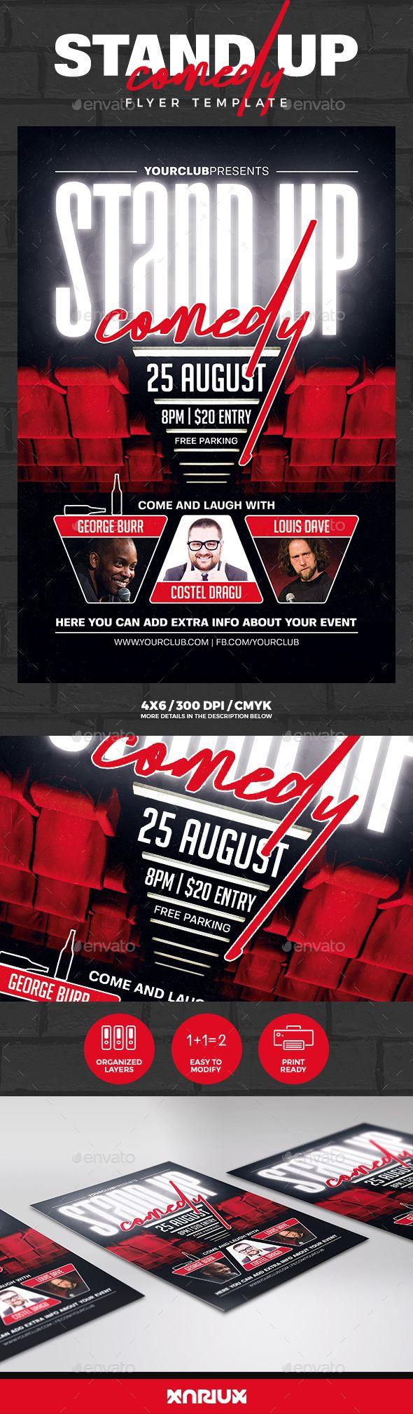 Comedy Flyer Template Download Erkalnathandedecker