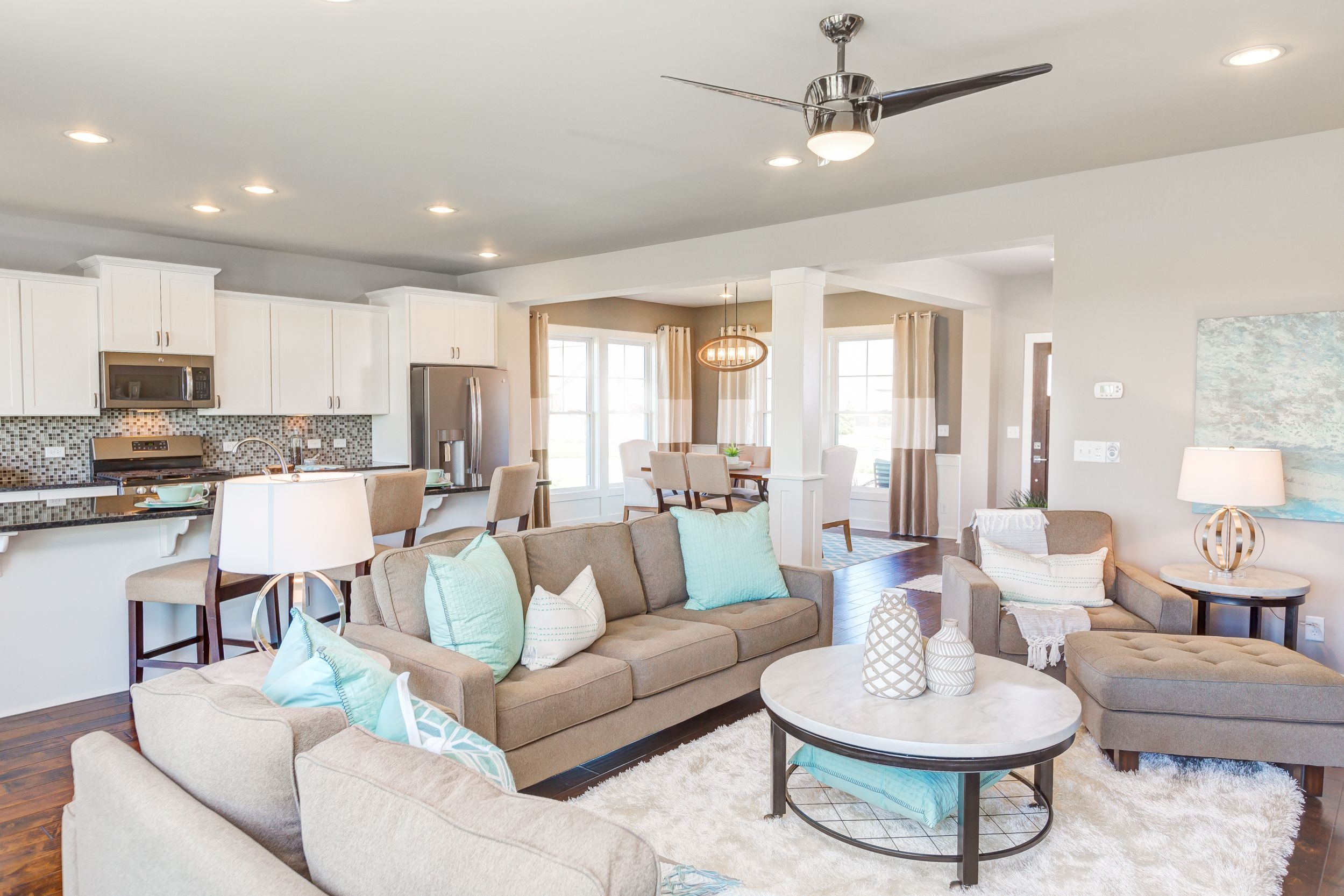 Jagoe Homes Inc Project Waterstone Village Floor Plan Walnut Craftsman Elevation C2 Newburgh In Lot 12 Building A New Home Home New Home Construction
