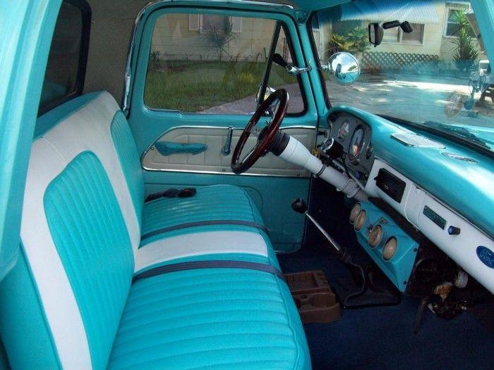 1965 Ford F100 Pickup 5 700x525 Jpg 700 525 1965 Ford F100 Old Ford Trucks Truck Interior