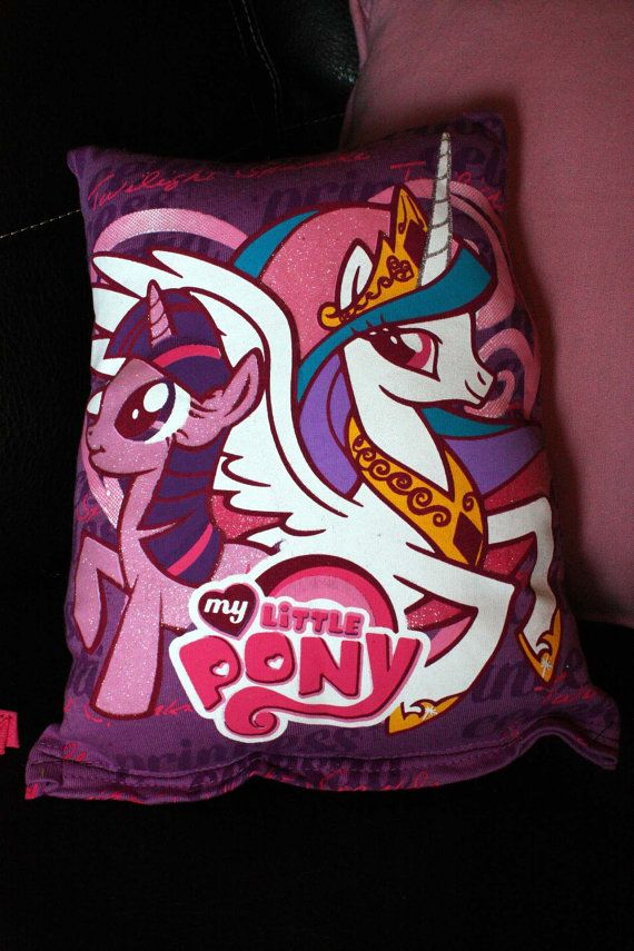 My Little Pony Friendship is Magic MLP FiM T-Shirt Throw Pillow in Princess Celestia and Twilight Sparkle...... WANT IT!!! lol