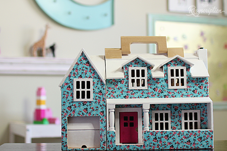 Diy Customized Dollhouse With Fabric And Decoupage This Was A Plain