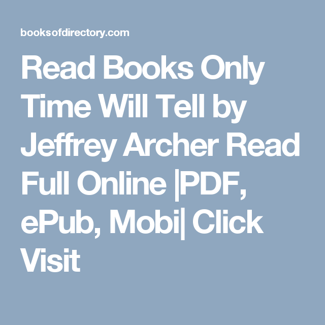 jeffrey archer only time will tell pdf