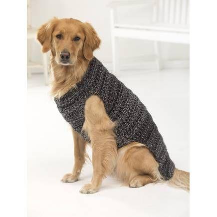 Free Pattern Lion Brand Hometown Usa Marley Dog Sweater L50184