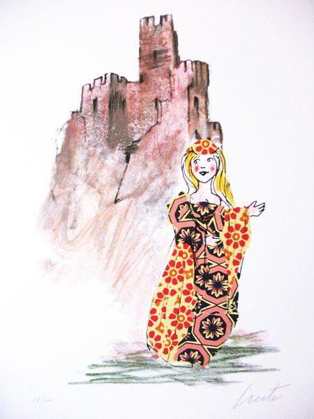 Lele Luzzati Angelica (serigrafia) Illustrazioni