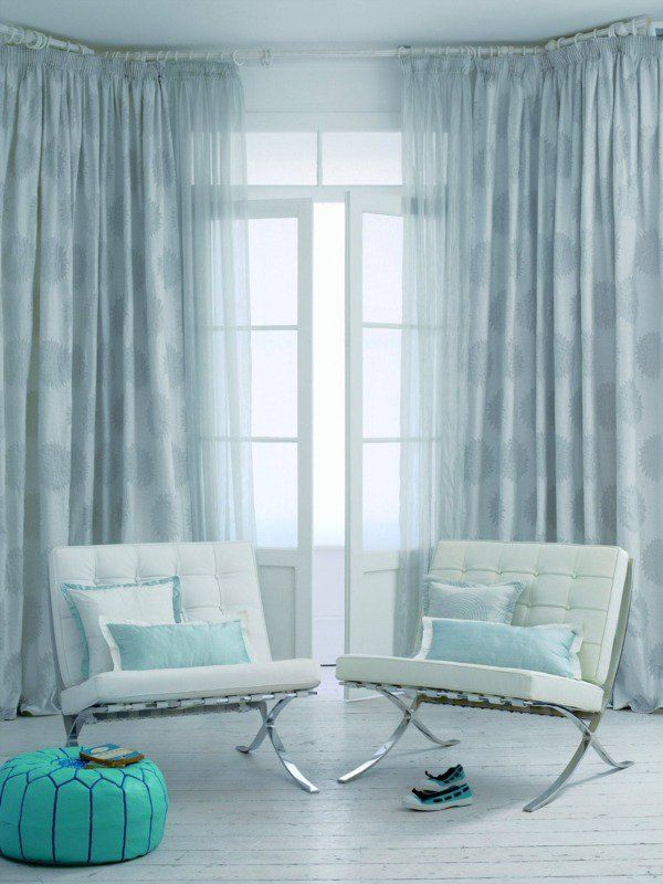 Superbe Modèle De Rideaux Salon En Bleu