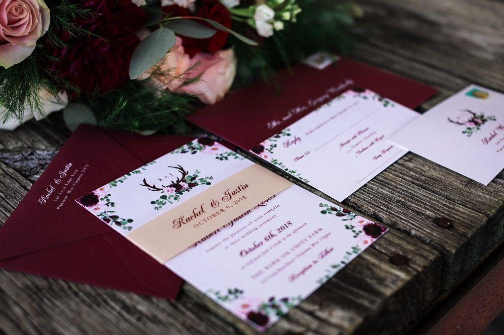 Rachel Justin Wedding Invitation Suites Pinterest Wedding