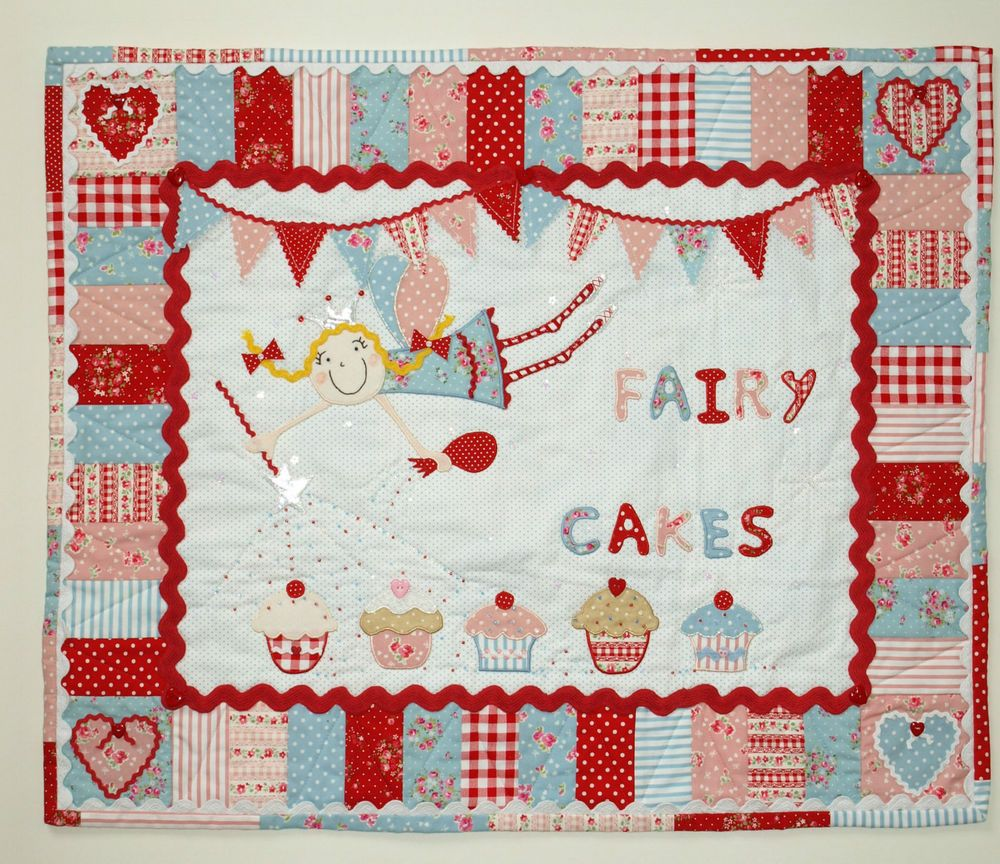 Patchwork quilting applique fairy cupcake wall hanging sewing patchwork quilting applique fairy cupcake wall hanging sewing pattern jeuxipadfo Gallery