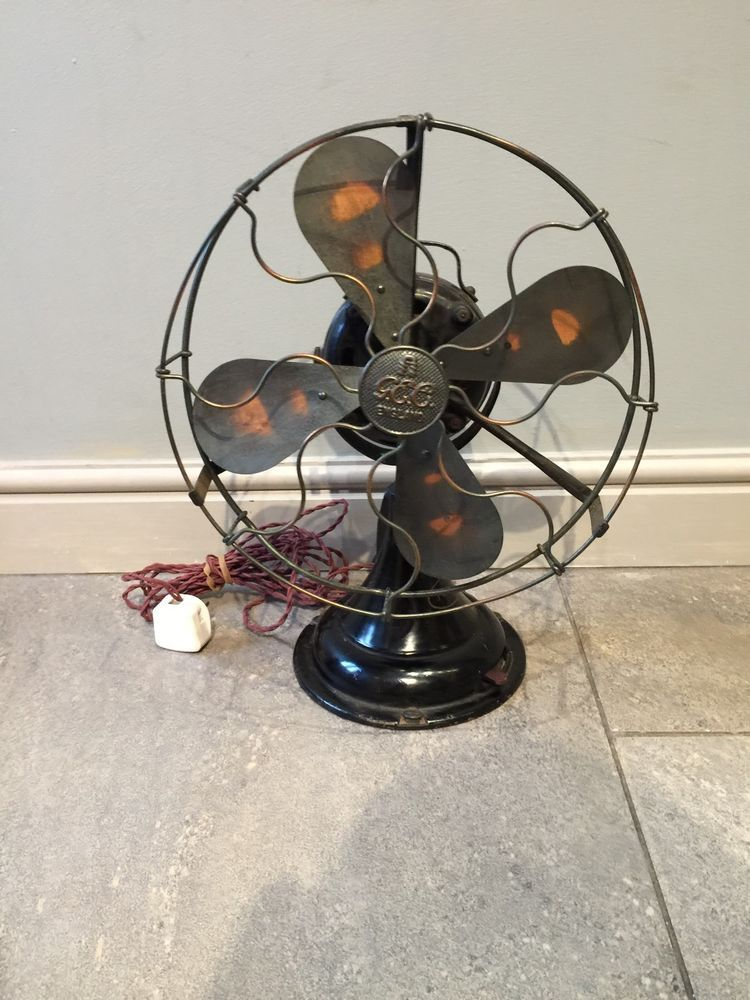 Stunning Vintage Electric Fan General Electrics G E C 1930s