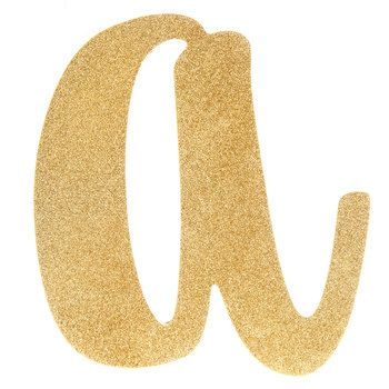 Gold Glitter Letter Wood Wall Decor A Wood Wall Decor Glitter Letters Wood Wall