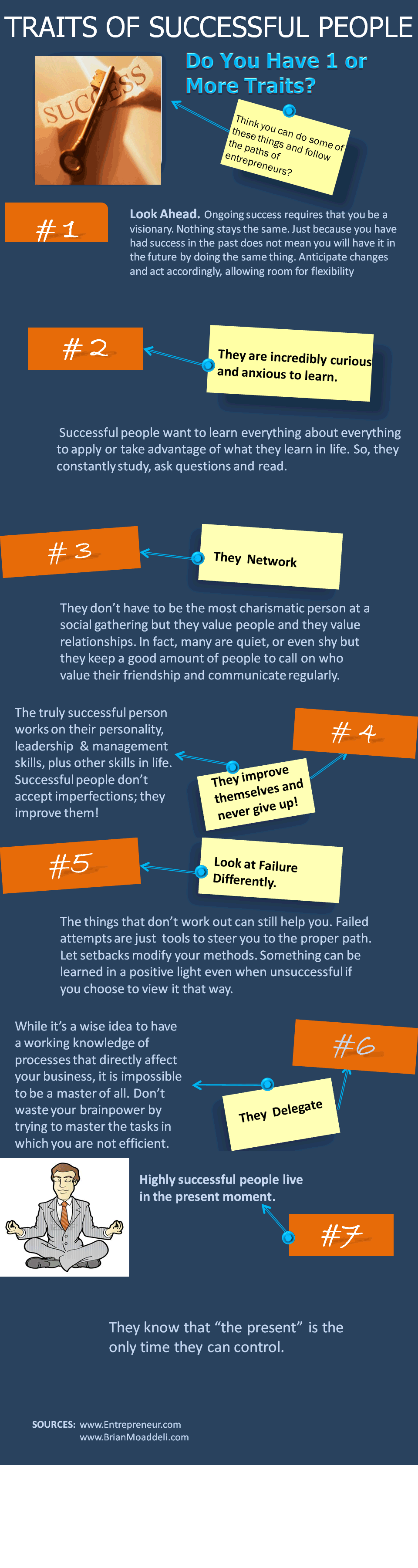 traits of successful people educational infographics infographic