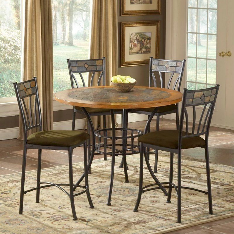 Red Rock 5 Piece Stone Top Pub Table Set Www Hayneedle Com Pub Table Sets Dining Table In Kitchen Pub Table