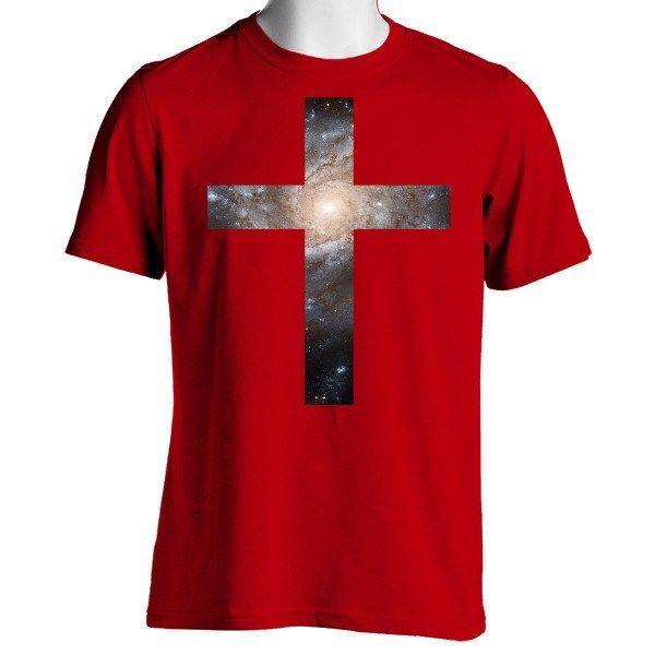 Galaxy Cross Unisex Crewneck T-Shirt
