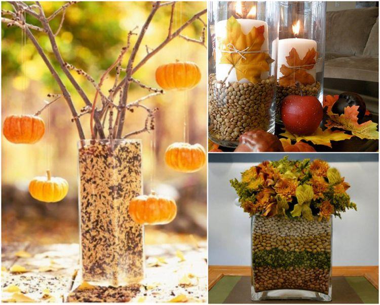 Herbstdeko Im Glas Selbst Zeugen U2013 Einfache Ideen Zum Nachmachen #einfache  #glas #herbstdeko