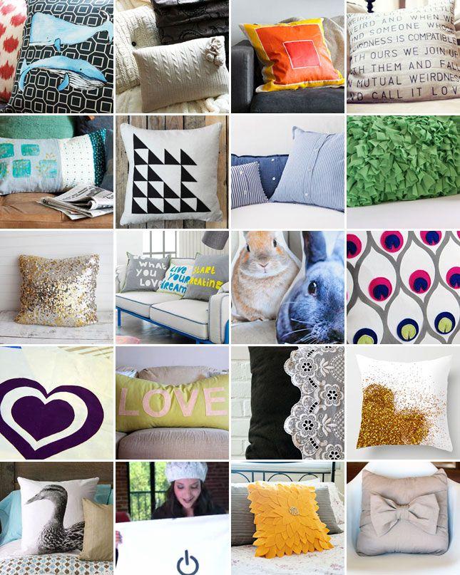 20 Creative Ways to Make Your Own Pillows & 20 Creative Ways to Make Your Own Pillows   Bow pillows Sweater ... pillowsntoast.com