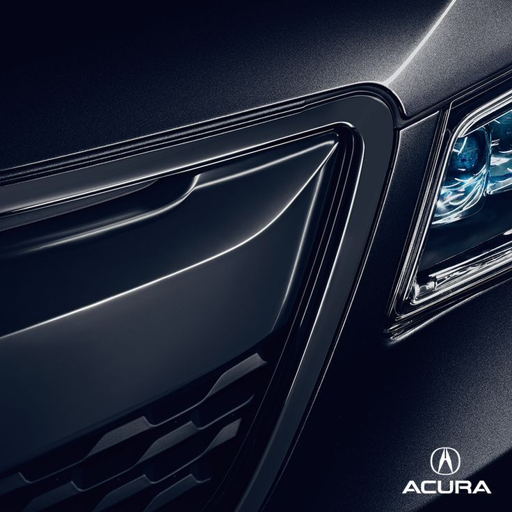 2015 Acura MDX Black Close Up Of Grill And Headlight