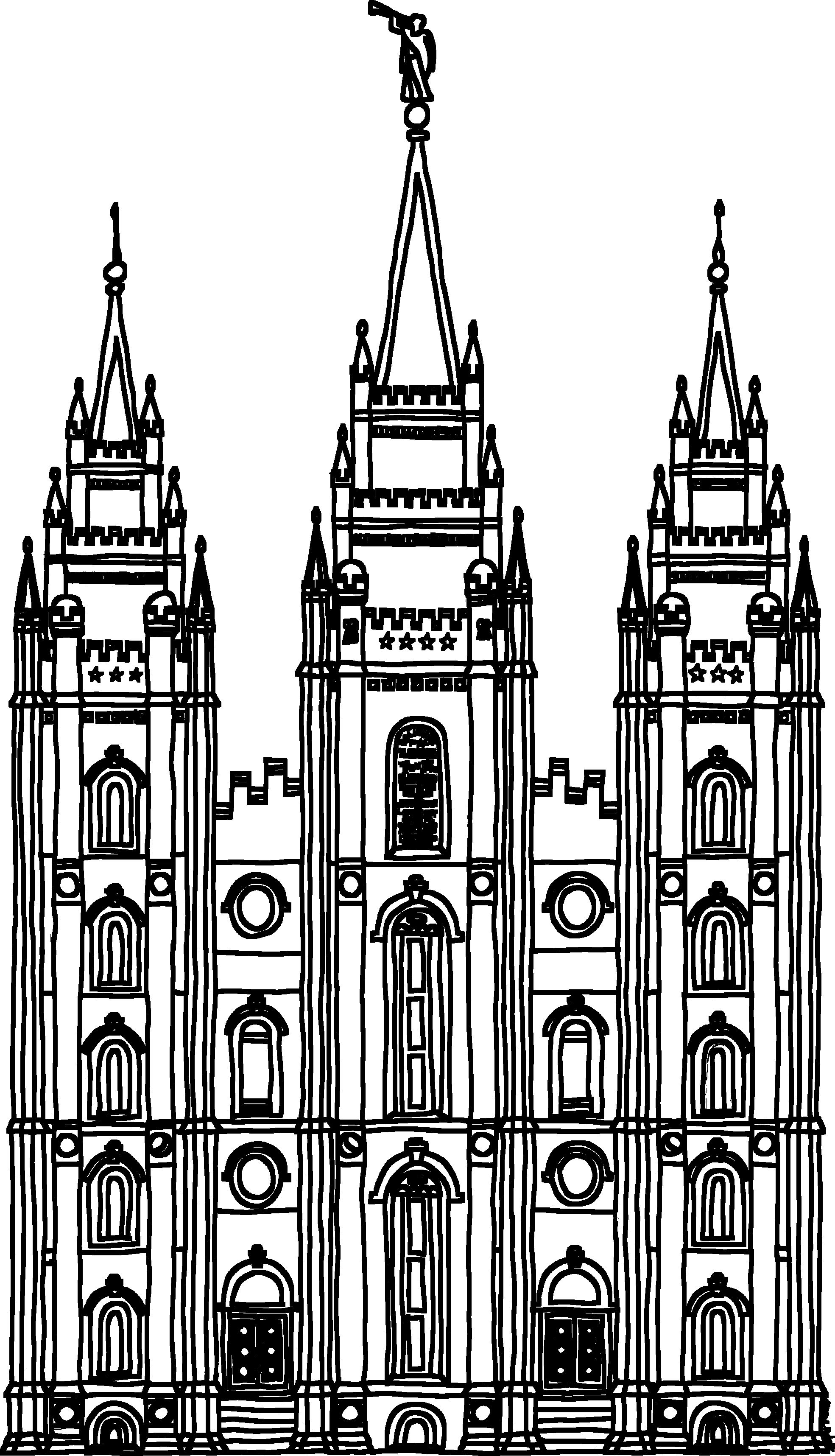 Black And White Lds Temple Pictures Top Temple Clipart Lds