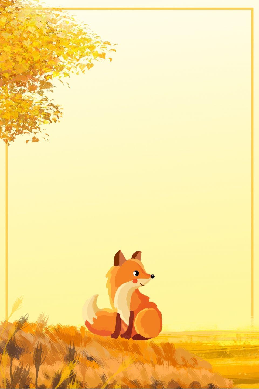 Anuncio De Impresion De Dibujos Animados Fox Forest Ilustracion Ilustracion De Bosque Arte De Zorro Dibujos