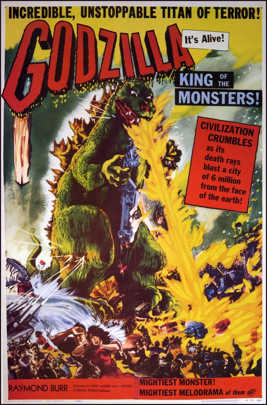 Godzilla On The Screen 1954 2014 Classic Movie Posters Movie Posters Vintage Science Fiction Movie Posters