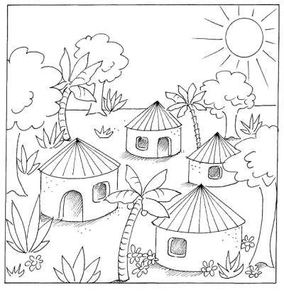 Colouring Pages Of Village Scenes Google Search Cute Coloring Pages Coloring Pages Village Scene Drawing
