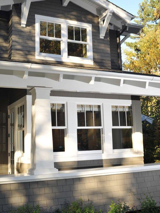 White Home Exterior Craftsman Design on white country homes exterior, white vinyl siding exterior, white southern homes exterior,