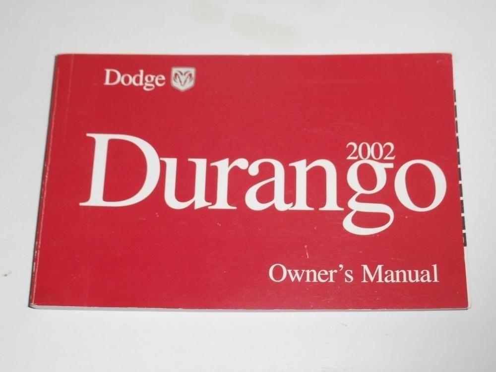 2002 dodge durango owners manual book owners manuals pinterest