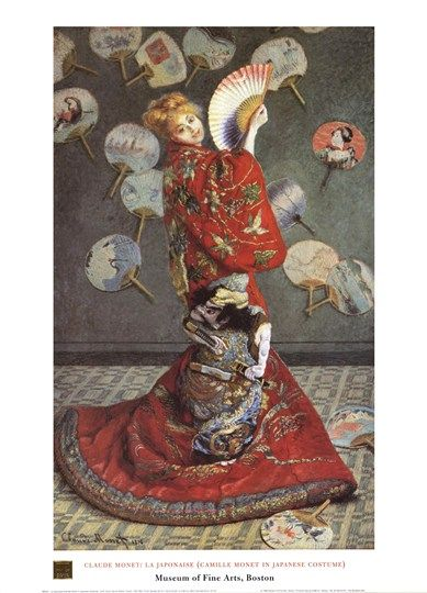 Artist Claude Monet Fine Art Poster Print of Painting La Japonaise The Japanese
