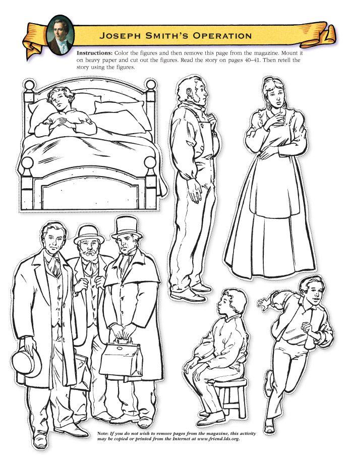 Joseph Smith and family cutout figures | Primary | Pinterest | Escritura