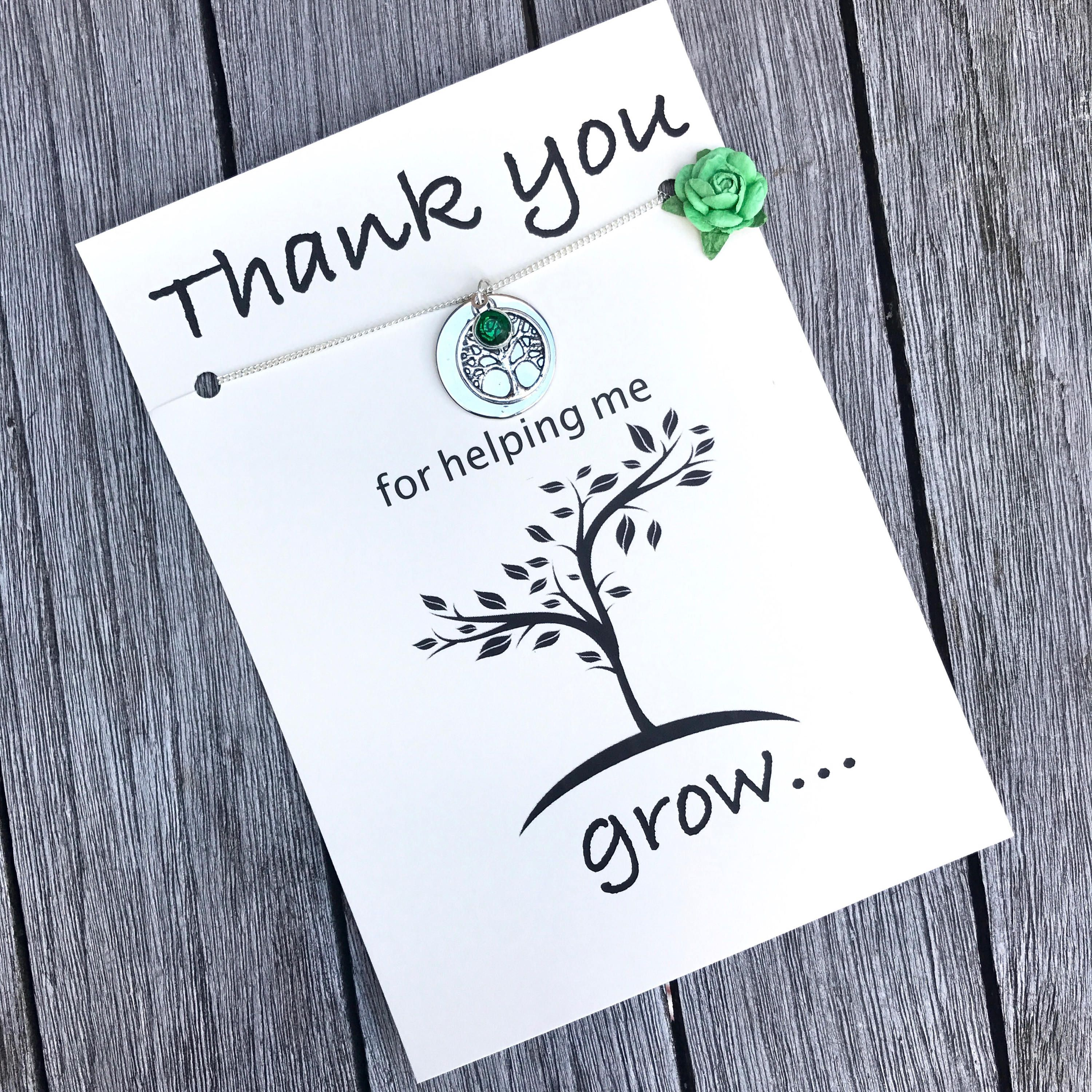 Thank you for helping me grow, Teacher appreciation gift