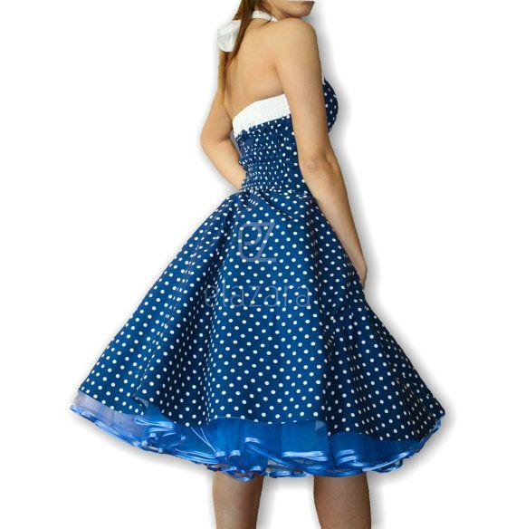 50er Jahre Petticoat Kleid Petticoatkleid in Lila mit von elazara