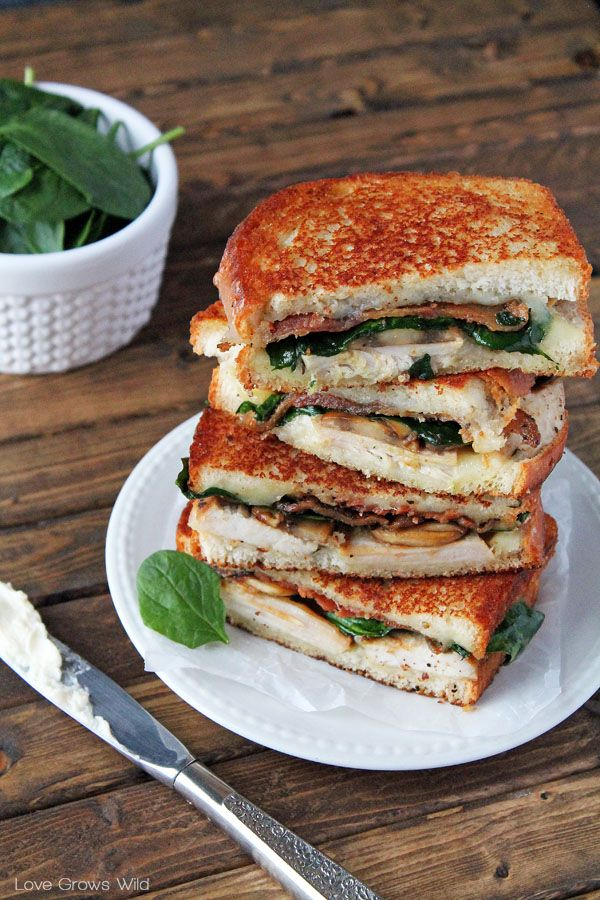 Grilled Turkey Florentine Sandwiches By Love Grows Wild For
