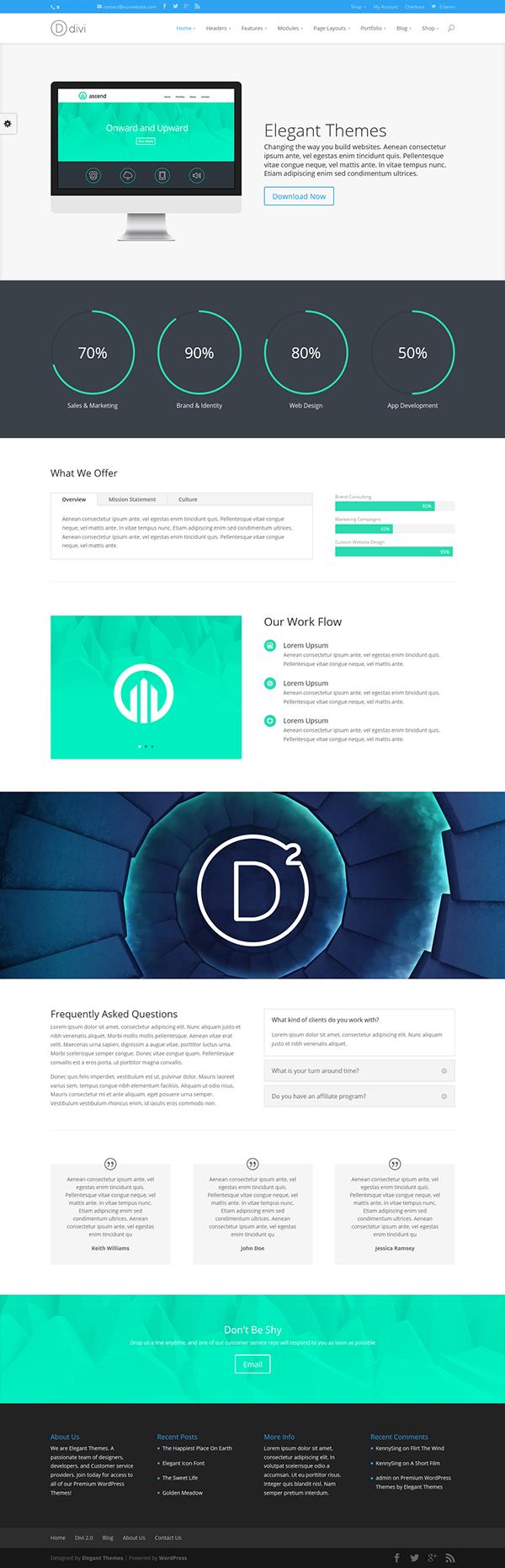 Erfreut Wordpress Webdesign Vorlage Fotos - Beispiel Business ...