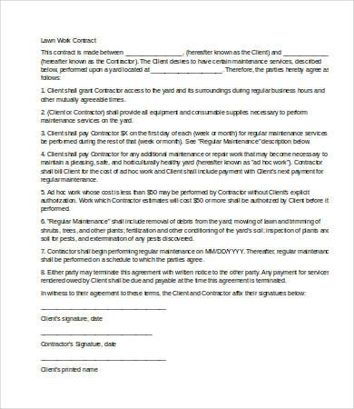 It Service Contract Template 9 Service Contract Templates  Free Sample Example Format .