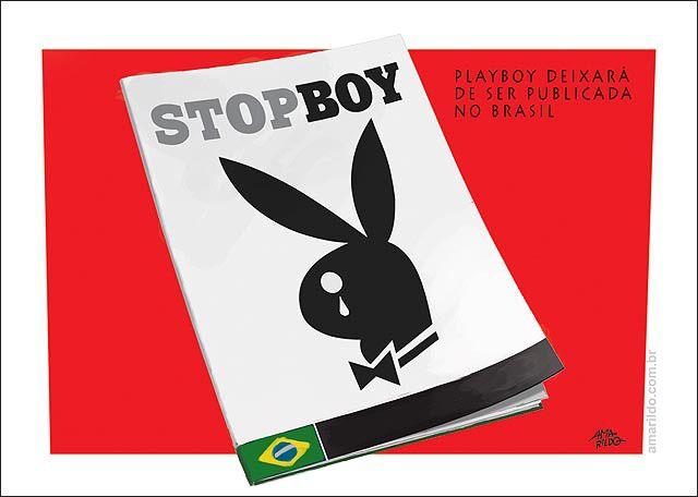 Playboy parou de publicar no Brasil.