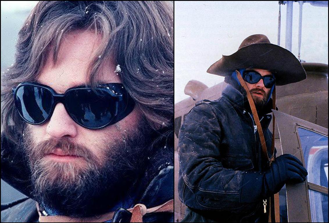 02d9a1b9166 Badass Vuarnet 027 Black Leather Mountain sunglasses. Worn RJ Macready aka  Kurt Russell in the classic 1982 sci-fi Movie The Thing